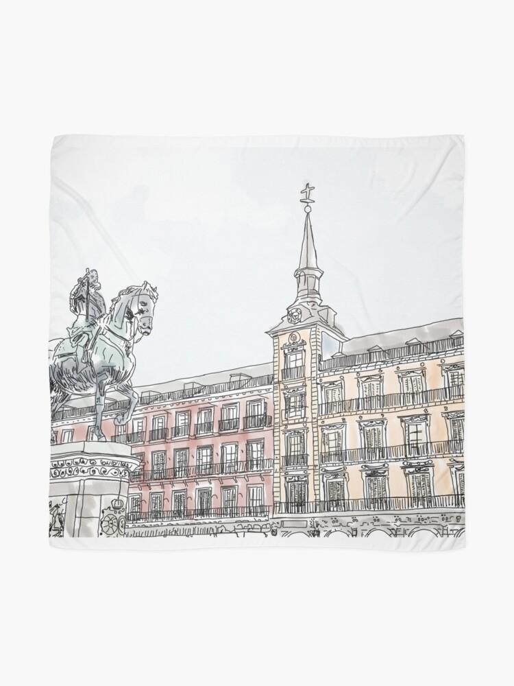 Alternative Ansicht von Plaza Mayor Madrid Aquarell Tuch
