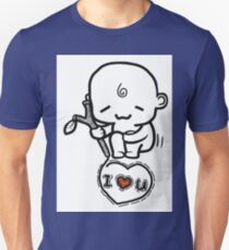 Cute Baby Drawing I Love You Unisex T-Shirt