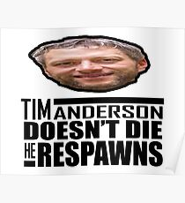 Tim Doesn't Die, He Respawns Poster