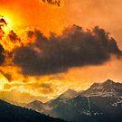 Sunset over Italian Alps by Silvia Ganora