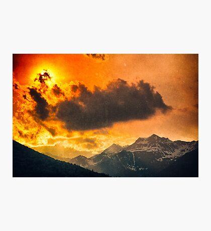 Sunset over Italian Alps Photographic Print