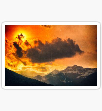 Sunset over Italian Alps Sticker