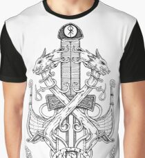 norse sword and dragons Graphic T-Shirt