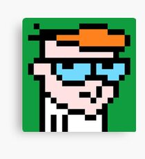 Dexters 8bit lab Canvas Print