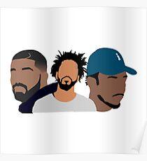 Drake Cole Kendrick Poster