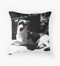 The day music died Throw Pillow