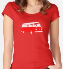 Bay Window Red White Essence (please see notes) Women's Fitted Scoop T-Shirt