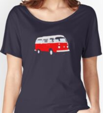 Bay Window Red White Essence (please see notes) Women's Relaxed Fit T-Shirt