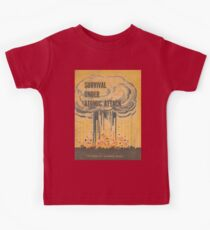 Survival, Atomic, Atomic Bomb, Attack, Poster, 1950 Kids Clothes