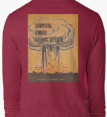 Survival, Atomic, Attack, Poster, 1950 Long Sleeve T-Shirt