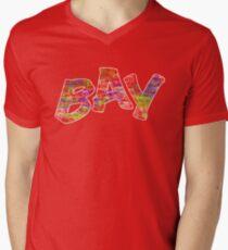 Multi-Colour Bay Logo Mens V-Neck T-Shirt