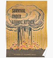 Survival, Atomic, Attack, Poster, 1950 Poster