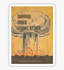 Survival, Atomic, Attack, Poster, 1950 Sticker