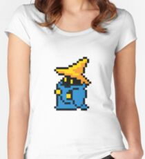 pixel black mage Women's Fitted Scoop T-Shirt