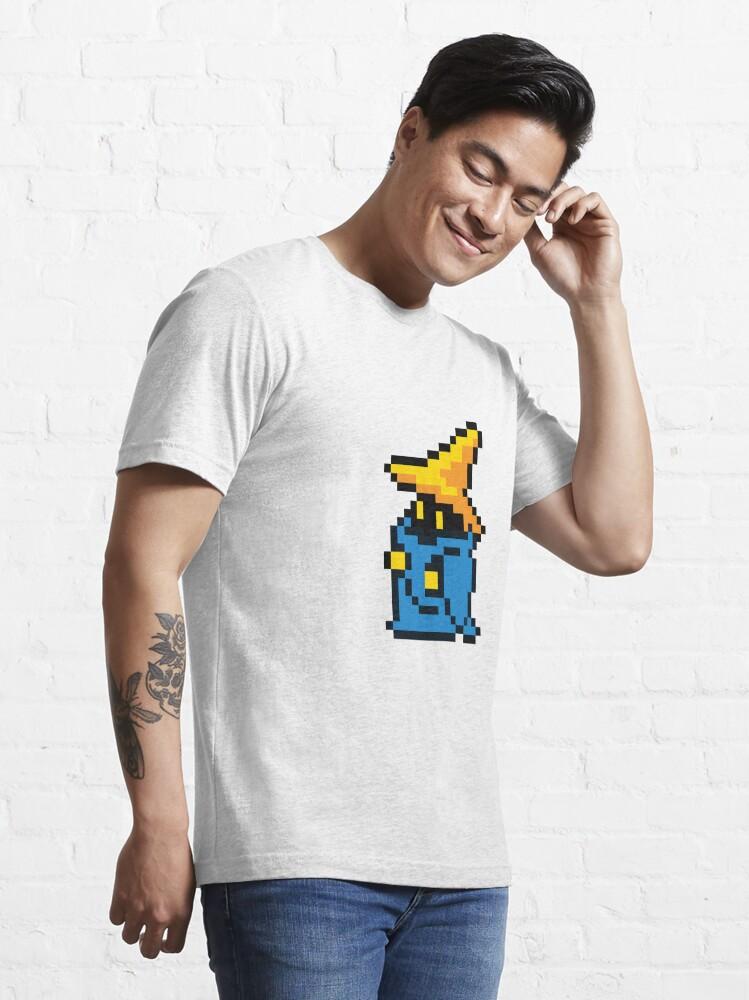 T-shirt essentiel ''pixel noir mage': autre vue