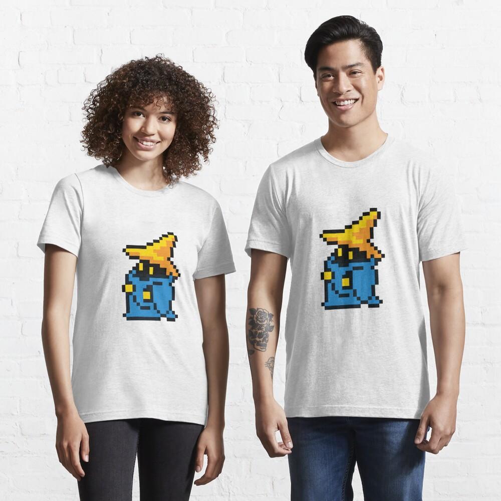 T-shirt essentiel «pixel noir mage»