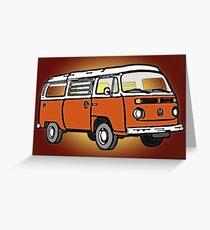 Orange Bay Graphic Greeting Card