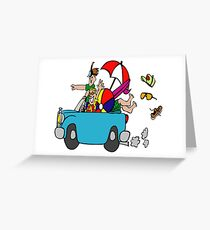 Vacation Here Comes Summer Greeting Card