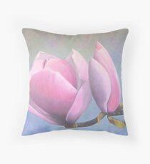 "Magnolia x saulangeana ""Lenni"" Throw Pillow"