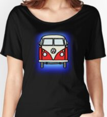 Red White Campervan Women's Relaxed Fit T-Shirt