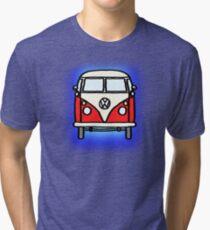 Red White Campervan Tri-blend T-Shirt
