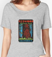 Redwood National Park California Vintage Travel Decal Women's Relaxed Fit T-Shirt