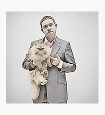 Martin and Cat Photographic Print
