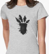 Crash Bandicoot, Aku Aku stencil Womens Fitted T-Shirt