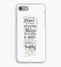 Psalm 4:5 Hand Drawn Bible Verse iPhone Case/Skin