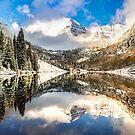 Aspen Colorado Maroon Bells Panorama by Gregory Ballos