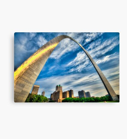 The Saint Louis Arch and City Skyline Canvas Print