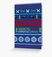 Supernatural Christmas Sweater Greeting Card
