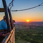 Myanmar. Bagan. Hot Air Balloons. Sunrise. by vadim19