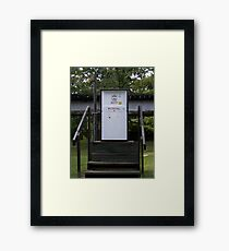 old timey gas pump Framed Print