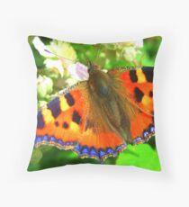 Tortoiseshell Butterfly Throw Pillow