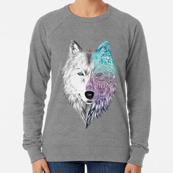 Wolf Mandala Leichter Pullover