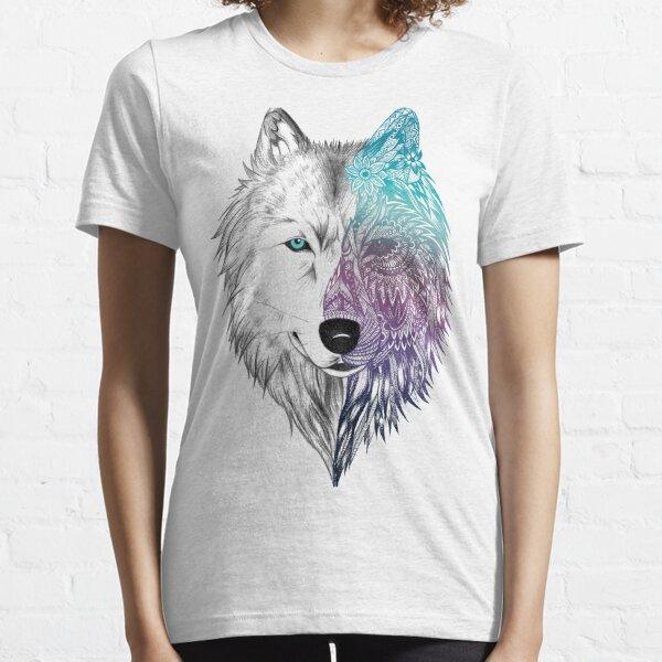 Mandala de loup T-shirt essentiel