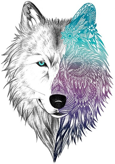 Quot Wolf Mandala Quot Poster By Samsar Redbubble