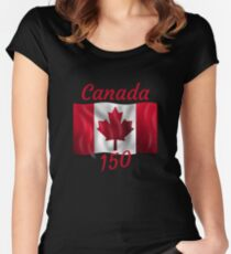 Celebrate Canada's 150th Birthday Women's Fitted Scoop T-Shirt