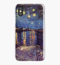 Starry Night over the Rhone, Vincent van Gogh iPhone Case