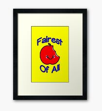 Fairest of All Bitten Apple Framed Print