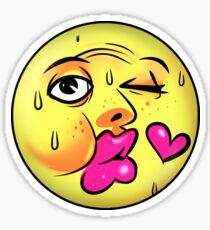 Kiss Emoji Drawing Stickers Redbubble