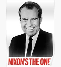 Funny Nixon's the One! Presidential Campaign Poster