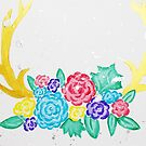 Horns with Flowers by sammyjodesigns