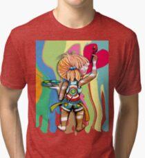 Art Chick Paint Shirt Tri-blend T-Shirt