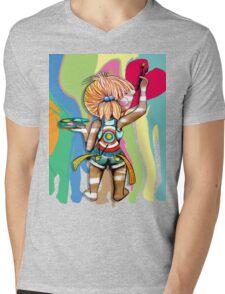 Art Chick Paint Shirt Mens V-Neck T-Shirt
