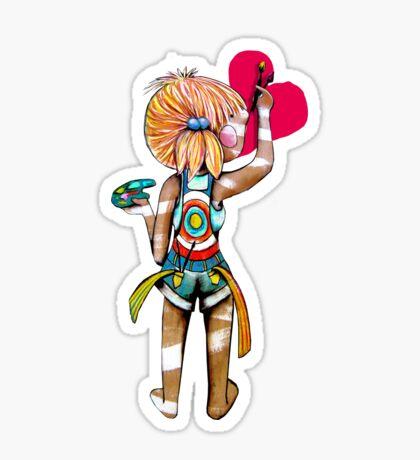 Art Chick Sticker