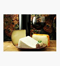 Wine and Cheese Photographic Print