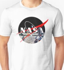 Nasa Logo Retro Futuristic Art T-Shirt