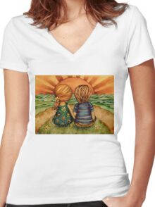 Sweethearts Women's Fitted V-Neck T-Shirt